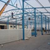 Budowa wiaty magazynowej - montaż ścian i dachu