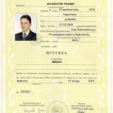 DACH-MEX, dyplom mistrzowski