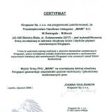 Przedsiębiorstwo Budowlane MAWI Wincenty Świergała, certyfikat