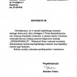 Referencje Bolesław Tchórz