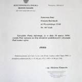 ENIGMA Biuro Rachunkowe Grażyna Burchardt, świadectwo kwalifikacji