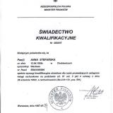 Biuro Rachunkowo-Audytorskie Anna Stefańska, certyfikaty i pozwolenia