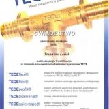 Świadectwo kwalifikacji w zakresie systemów TECE