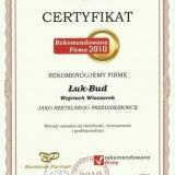 Łuk-Bud  Wojciech Wieczorek - referencje certyfikaty