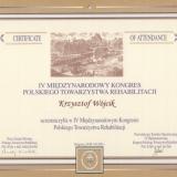 Gabinet Rehabilitacji Vita Max Kraków - certyfikaty