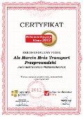 Alo Marcin Mróz Transport Przeprowadzki, Certyfikat