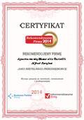 Apartamenty Mazurskie Świetlik Alfred Korybut, Certyfikat