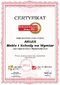 ARLEX Meble i Schody na Wymiar, Certyfikat