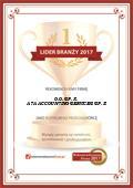 ATA ACCOUNTING SERVICES SP Z O O SPÓŁKA KOMANDYTOWA, Certyfikat
