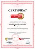 BIURO RACHUNKOWE JADWIGA ZUBRZYCKA, Certyfikat