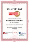Biuro Usług Księgowych BILANSIK Barbara Michalak, Certyfikat