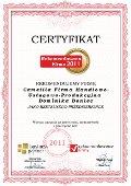 Camellia Firma Handlowo-Usługowo-Produkcyjna Dominika Doniec, Certyfikat