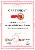 Designmebel Robert Sawko, Certyfikat