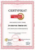 Drukarnia Smolarski, Certyfikat