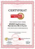 EW-BUD Usługi Remontowo - Wykończeniowe Marek Paprota, Certyfikat