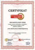 FIRMA SPECJALISTYCZNA KAMIŃSCY inż. Ireneusz Kamiński , mgr Radosław Kamiński, Certyfikat