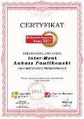 Inter-Mont Łukasz Pawlikowski, Certyfikat