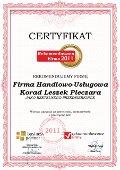 Firma Handlowo-Usługowa Korad Leszek Pieczara, Certyfikat