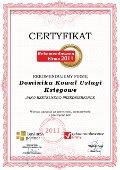 Dominika Kowal Usługi Księgowe, Certyfikat