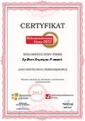 KP BIURO Krystyna Piszczek, Certyfikat