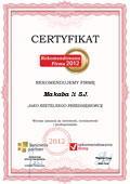 MAKABA II S.J., Certyfikat