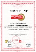 Drzewa i Krzewy Ozdobne Matyaszczyk - Barbara Lewandowska, Certyfikat