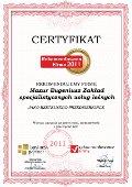Mazur Eugeniusz Zakład specjalistycznych usług leśnych, Certyfikat