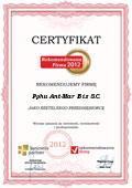 PPHU Ant-Mar Bis S.C., Certyfikat