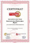 Przedsiębiorstwo Wielobranżowe Magbud, Certyfikat