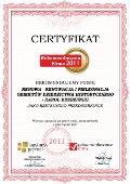 Renowa - Renowacja i Pielęgnacja Obiektów Dziedzictwa Historycznego Karol Brzeziński, certyfikat - Rekomendowana Firma