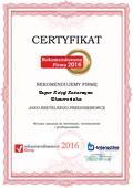Super Księgi KATARZYNA SKOWROŃSKA, Certyfikat