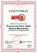 Pracownia Futer Szyk Sylwia Michalska, Certyfikat