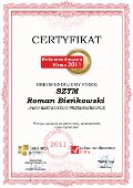 SZYM Roman Bieńkowski, Certyfikat
