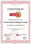 Firma Handlowo-Usługowa Tasak, Certyfikat