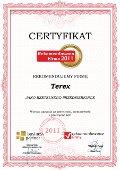 Terex, Certyfikat