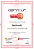 TOP SERWIS, Certyfikat