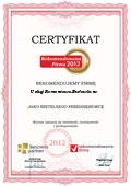 Usługi Remontowo-Budowlane, Certyfikat