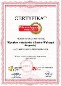 Wynajem Autokarów i Busów Wojtczyk Krzysztof, Certyfikat