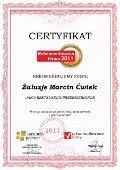 ŻALUZJE Marcin Ćwiek, Certyfikat